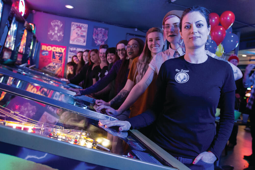 Denver's first all women's pinball club, Belles and Chimes, invites female players of all skill levels to observe, play and have fun. Tournaments are held bi-weekly.
